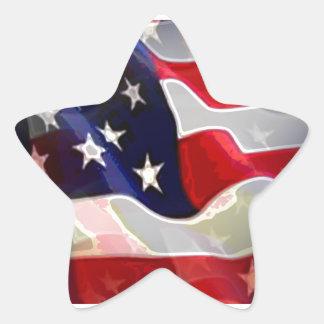 Bandeira americana dos E.U. Adesito Estrela