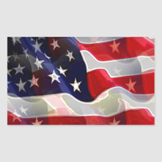 Bandeira americana dos E.U. Adesivo Retangular