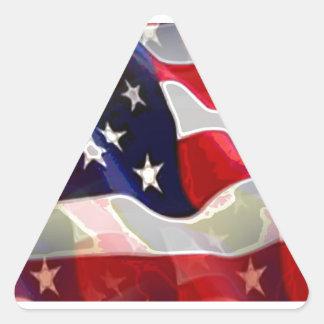 Bandeira americana dos E.U. Adesivo Triangular