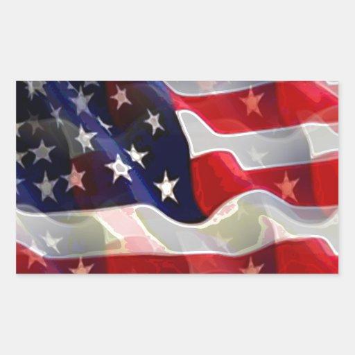 Bandeira americana dos E.U. Adesivo Em Forma Retangular
