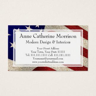 Bandeira americana dos E.U. da bandeira dos Cartão De Visitas