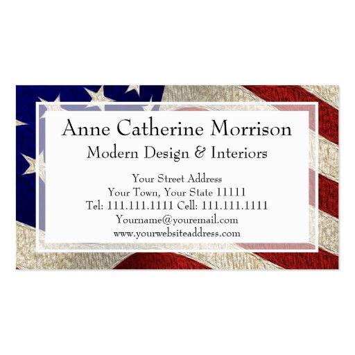 Bandeira americana dos E.U. da bandeira dos Estado Cartões De Visitas