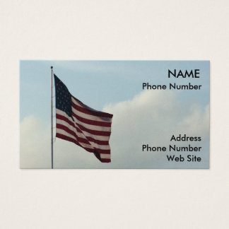 Bandeira americana e céu azul cartão de visitas