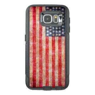 Bandeira americana envelhecida