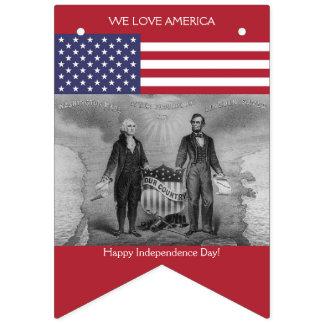 Bandeira americana George Washington Abraham