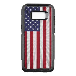 Bandeira americana legal e patriótica capa OtterBox commuter para samsung galaxy s8+