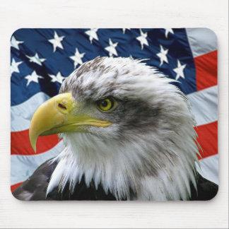 Bandeira americana Mousepad da águia americana