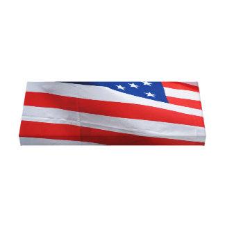Bandeira americana na lona envolvida impressão em tela