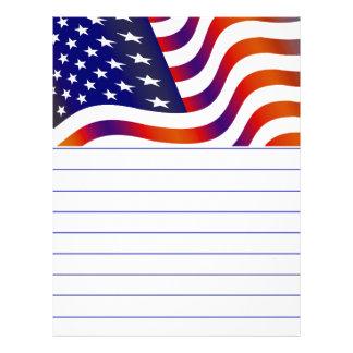 Bandeira americana papel timbrado