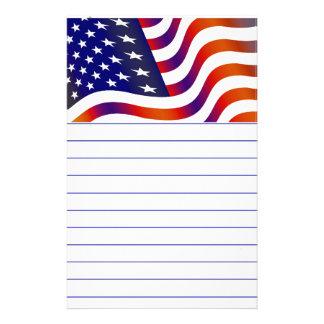 Bandeira americana papelaria