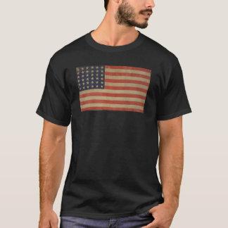 Bandeira americana patriótica do vintage da camiseta
