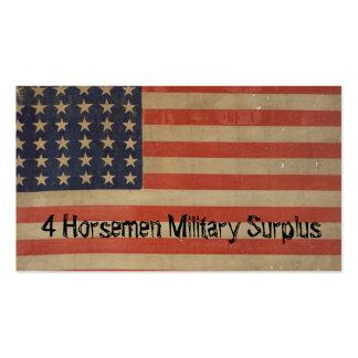 Bandeira americana patriótica do vintage da cartão de visita