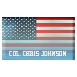 Bandeira americana suporte para cartões de mesa