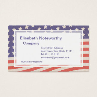 Bandeira americana - vermelho, branco e azul 4o cartão de visitas
