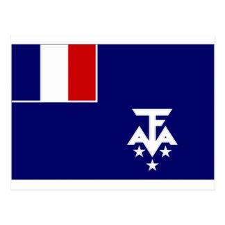 Bandeira antárctica do sul francesa das terras cartão postal