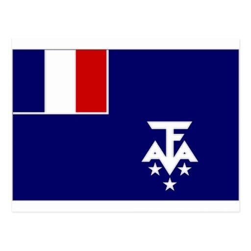 Bandeira antárctica do sul francesa das terras cartoes postais