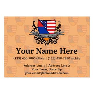 Bandeira Arménio-Americana do protetor Modelo Cartoes De Visitas