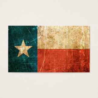 Bandeira arrastada e vestida de Texas Cartão De Visitas