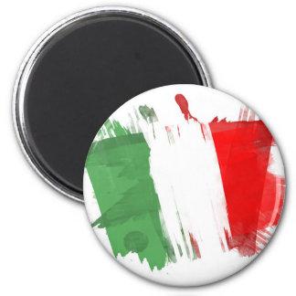 Bandeira artística de Italia - design customizável Ímã Redondo 5.08cm