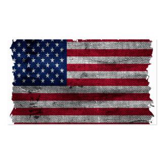 Bandeira áspera dos EUA Cartão De Visita