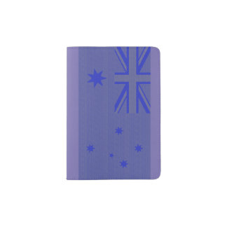 Bandeira australiana capa para passaporte