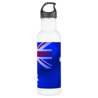 Bandeira australiana garrafa de aço inoxidável