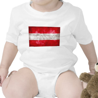 Bandeira austríaca macacãozinho para bebê