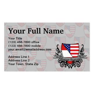 Bandeira Austríaco-Americana do protetor Cartao De Visita