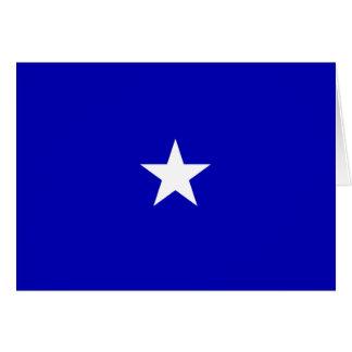 Bandeira azul Bonnie Cartão Comemorativo