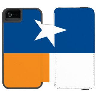 Bandeira azul e alaranjada de Texas