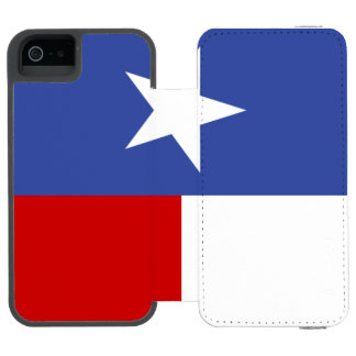 Bandeira azul e vermelha da safira de Texas