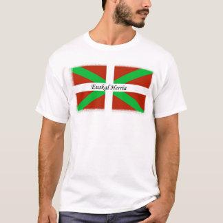 Bandeira Basque com a camisa de Euskal Herria