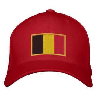 Bandeira belga bordada no boné