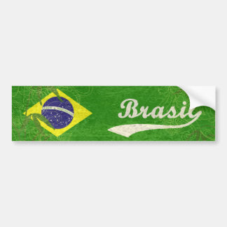 Bandeira brasileira adesivo para carro