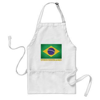Bandeira brasileira aventais