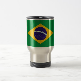 Bandeira brasileira caneca térmica
