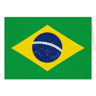 Bandeira brasileira cartão