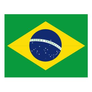 Bandeira brasileira cartão postal