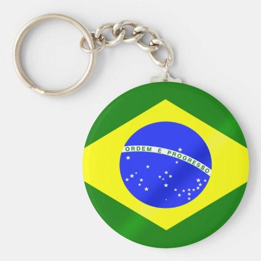 Bandeira brasileira de presentes e de camisetas de chaveiros