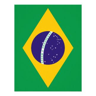 Bandeira brasileira modelo de papel de carta