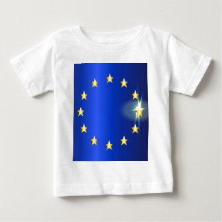 Bandeira brilhante da UE Camiseta Para Bebê