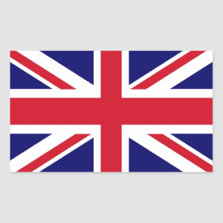 Bandeira BRITÂNICA Adesivo Retangular