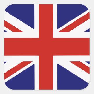 Bandeira britânica adesivo quadrado