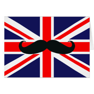 Bandeira BRITÂNICA de Grâ Bretanha com o cartão de