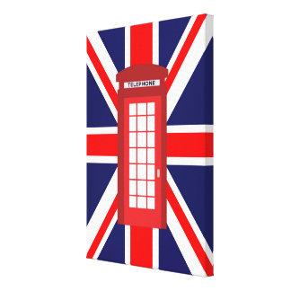 Bandeira britânica de Union Jack da caixa do Impressão Em Tela