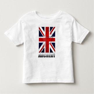 Bandeira britânica do tiro ao arco dos arqueiros t-shirt