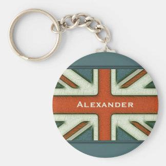 Bandeira britânica personalizada chaveiro