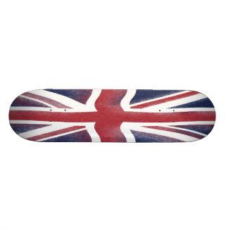 Bandeira britânica shape de skate 19,7cm