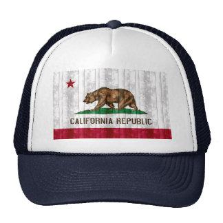 Bandeira californiana de madeira bonés