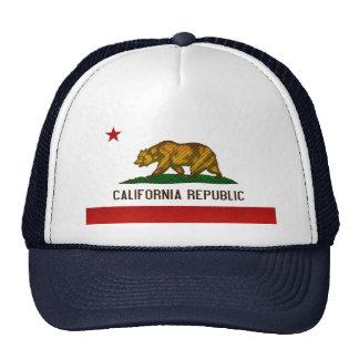 Bandeira californiana descascada moderna bonés